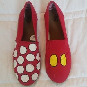Mickey mouse inspired red flats